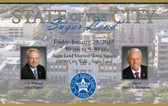 STATE OF THE CITY: Big things expected for Sugar Land's 2015