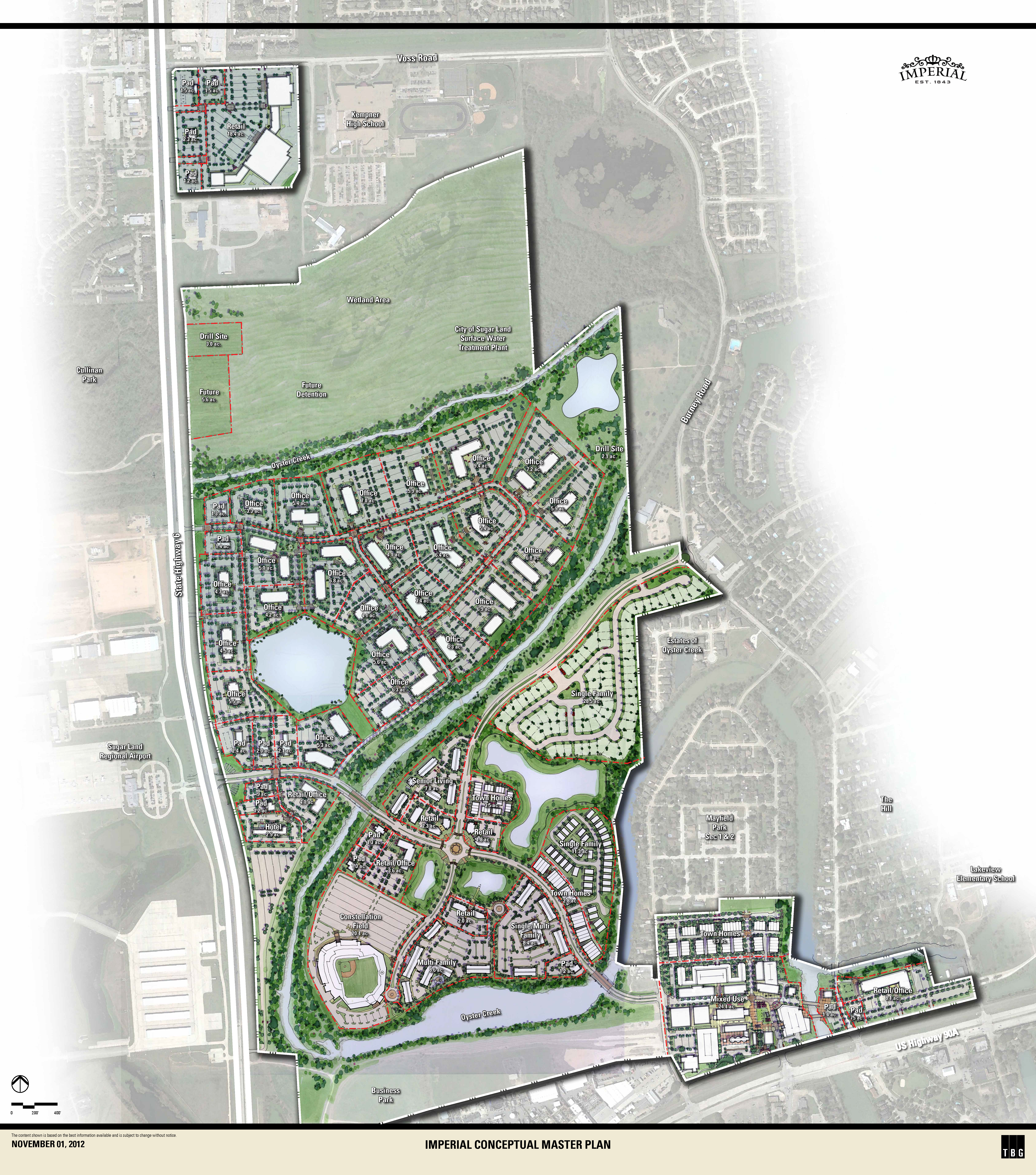 Imperial Land Plan Overview, Sugar Land